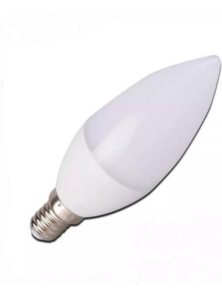 5 Lampadas Led Vela Leitosa E14 5w Branco Quente Bivolt