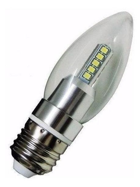 15 Lampadas Led Vela Cristal E27 4w Bq Bivolt