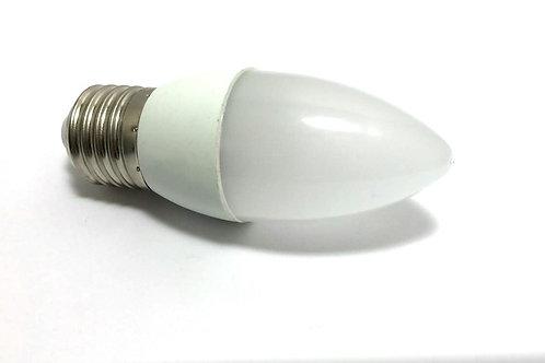 60 Lampadas Led Vela Leitosa E27 4,8w Branco Quente Bivolt