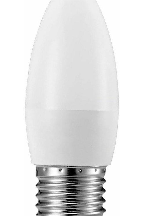 6 Lampadas Led Vela Leitosa E27 4,8w Branco Quente Bivolt