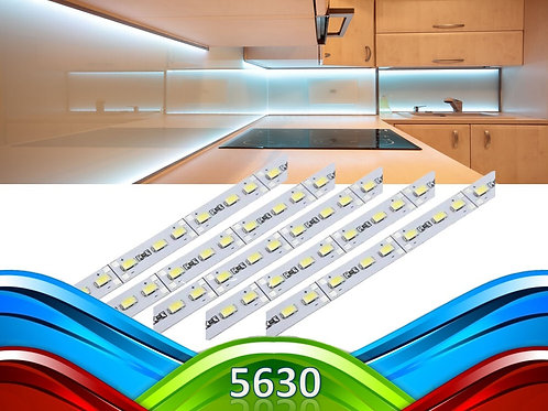 2 Barras 5630 Smd 1m Aluminio 18w Bf 12v + 2 5630 Rosa 12v