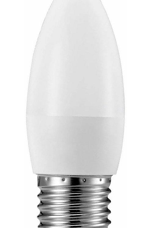 12 Lampadas Led Vela Leitosa E27 4,8w Branco Quente Bivolt