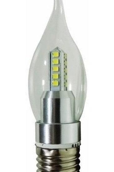 40 Lampadas Led Vela Cristal Bico E27 4w Branco Frio Bivolt