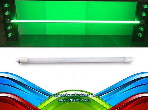 Lampada Led Tubular T8 18w 1,20 Cm Verde
