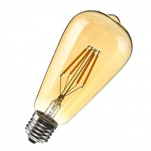 Pendente C/ Lamp Led Filamento St64 4w Bv E27 Bq