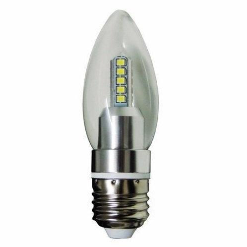 16 Lampadas Led Vela Cristal E27 4w Bf Bivolt