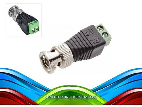 10 Conector Bnc Borne Macho