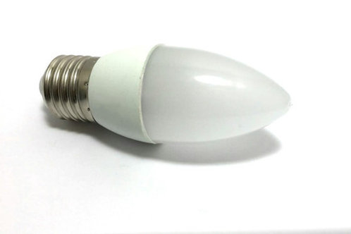 40 Lampadas Led Vela Leitosa E27 4,8w Branco Quente Bivolt