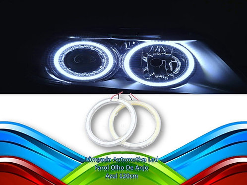 Lampada Automotiva Led Farol Olho De Anjo Azul 120cm