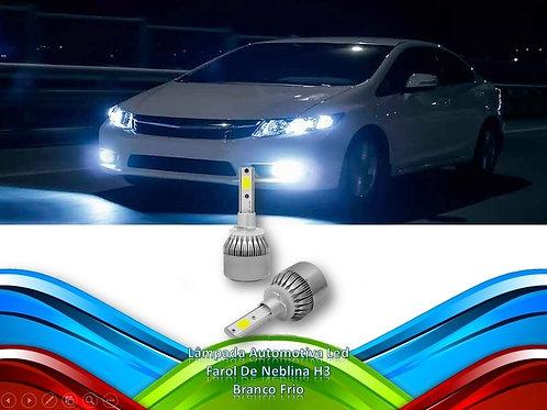 Lampada Automotiva Led Farol De Neblina H3 - Branco Frio