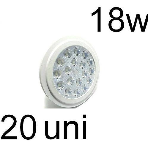 Kit C/20 Lampada Led Par38 18w E27 Branco Quente Jf108
