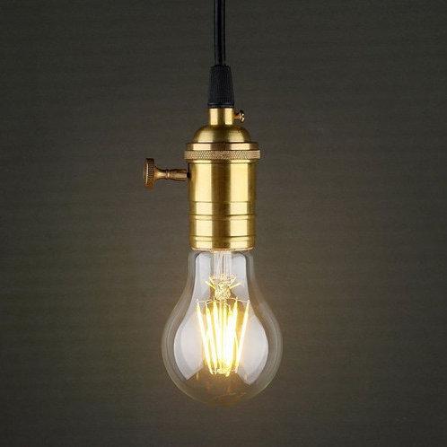 2 Pendentes E27 Pd8+2 Lamp Led Filamento A60 4w Bq 110v