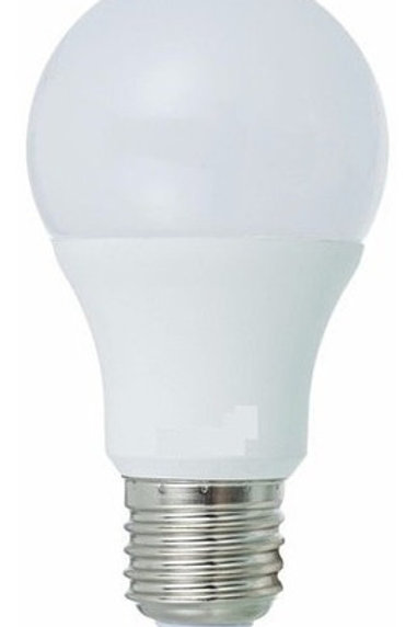 5 Lampadas Led Bulbo Plastico E27 7w Bf Bivolt