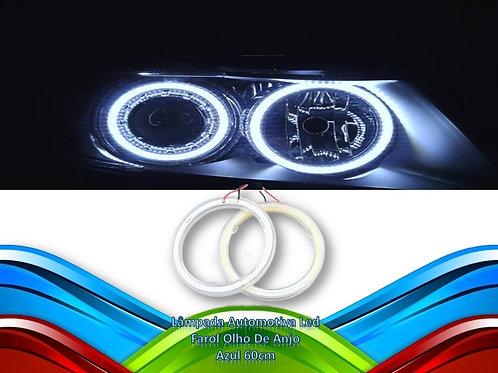Lampada Automotiva Led Farol Olho De Anjo - Azul 60cm