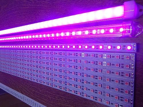 2 Barra 72 Leds 5630 Smd 1m Aluminio 25w Rosa 12v