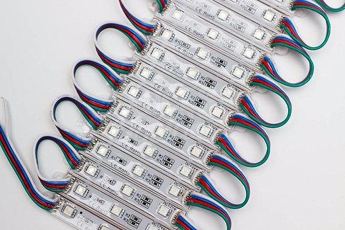 200 Modulos 3 Leds 5050 Smd Ip65 Rgb 12v+ 2 Controlador Rgb