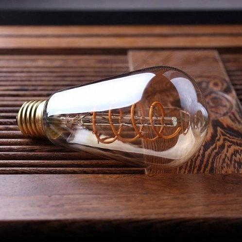 Lampada St64 Retro Filamento Espiral 4w Ambar