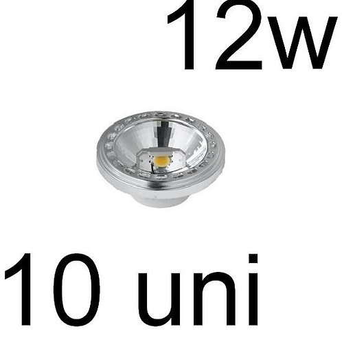 10 Lampadas Led Cob Ar111 12w Bf Bivolt