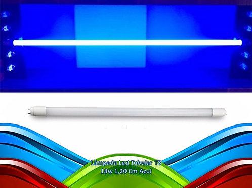 Lampada Led Tubular T8 18w 1,20 Cm Azul