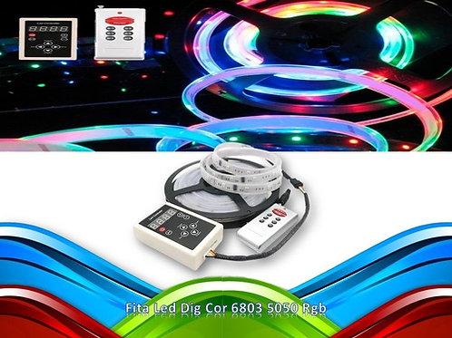 Fita Led Dig Cor 6803 5050 Rgb Prova D'agua 133 Efeito Jf134
