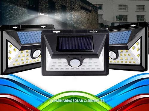 3 Luminaria Solar C/ Sensor De Presenca