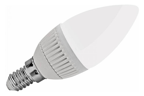 6 Lampadas Led Vela Leitosa E14 5w Branco Frio Bivolt