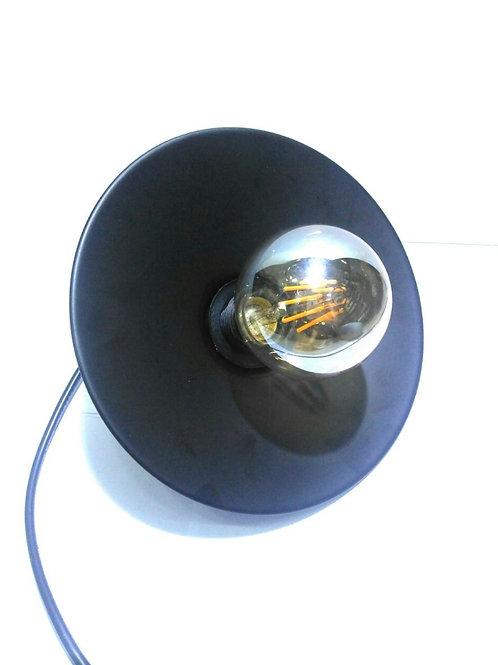Pendente Chapeu Design Pt + Filamento G80 8w Bq
