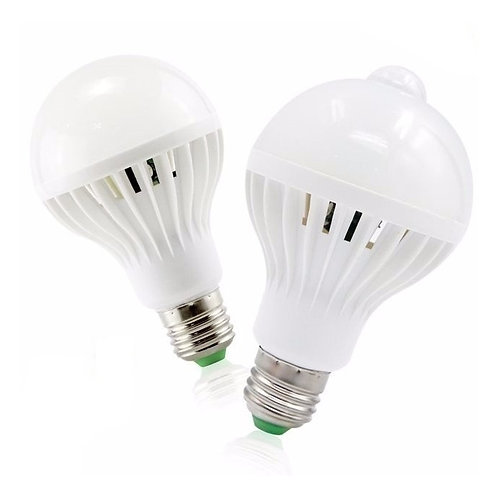 3 Lampada Bulbo Led C/sensor De Presenca 9w Branco Frio Biv