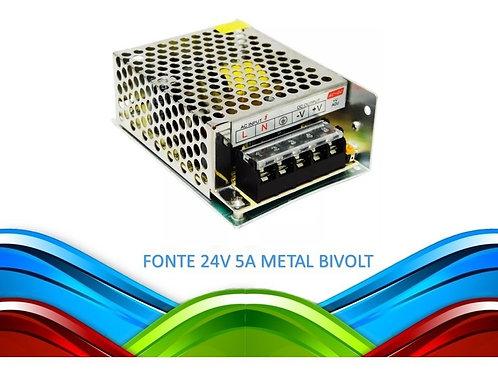 3 Fontes Alimentacao Metal 24v 5a Bivolt