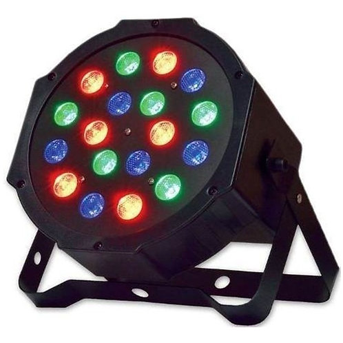 Refletor Led Par 64 18 Leds 1w Festa Buffe Decoracao Rgb 12v