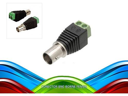 10 Conector Bnc Borne Femea