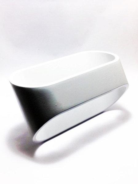 2 Arandela De Parede Quadrado 5w Branco Frio Yb-117