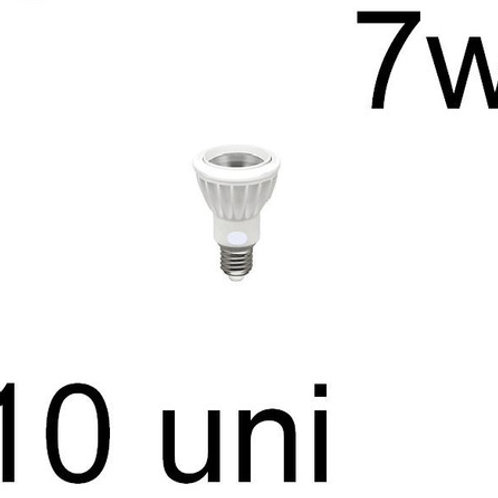 10 Lampadas Led Par20 Cob E27 7w Bq Bivolt