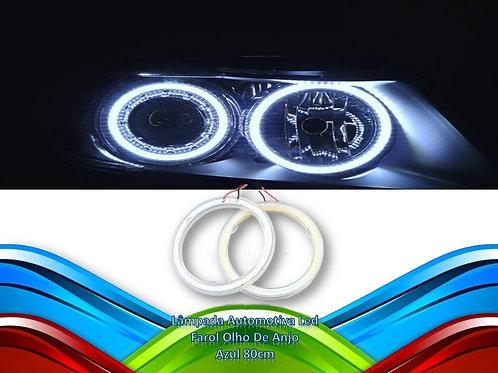 Lampada Automotiva Led Farol Olho De Anjo - Azul 80cm