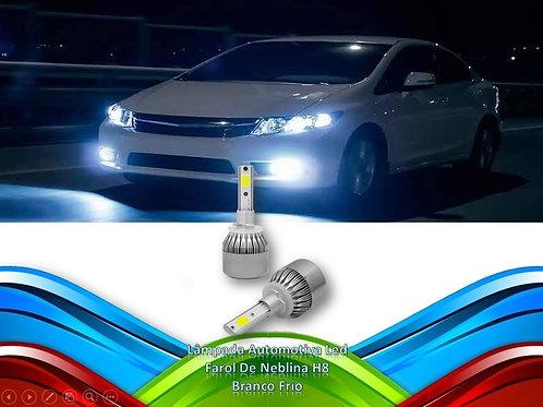 Lampada Automotiva Led Farol De Neblina H8 - Branco Frio