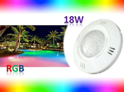 Kit C/ Refletor Piscina Rgb 18w Controle Fonte 12v 5a Blind