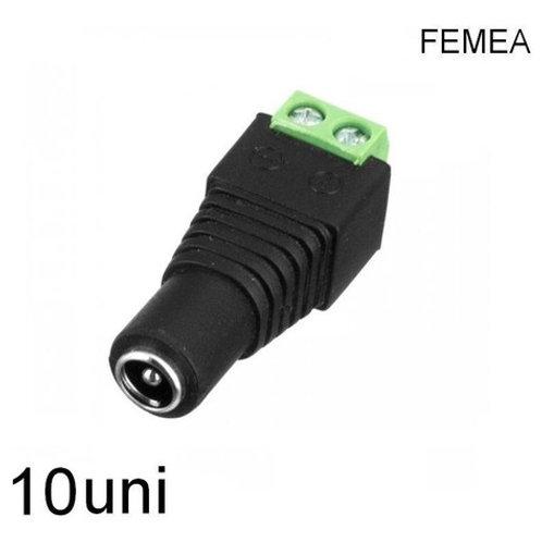 10 Borne Kre/p4 Femea 2,1mm Fl-03