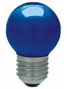5 Lampadas Led Bolinha E27 Azul 1w 110v