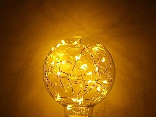 Lampada Led Filamento Bulbo G80 Com Fio De Fada E27 3w Bq