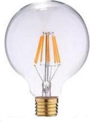 3 Lampadas Led Filamento G80 E27 Cris.bq 2200k 8w