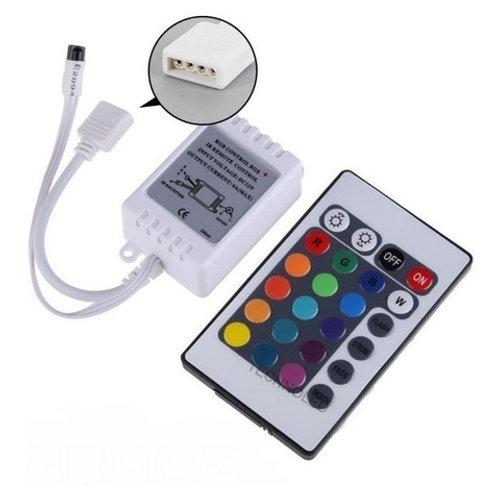10 Controlador C/controle 24 Teclas P/fita Rgb 5050/3528