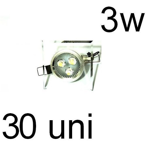 30 Spot Led Cristal Quadrado 6w Bf Bivolt
