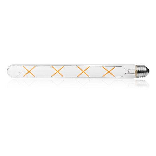 12 Lampadas Led Filamento Retro T30 20c E27 Cristal Bq 4w