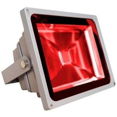 Refletor Led Ip65 50w Vermelho Bivolt
