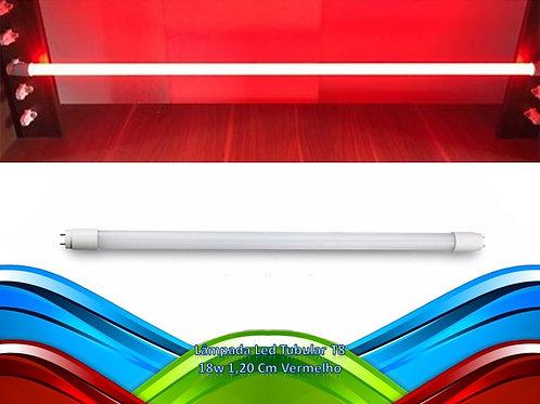 Lampada Led Tubular T8 18w 1,20 Cm Vermelho