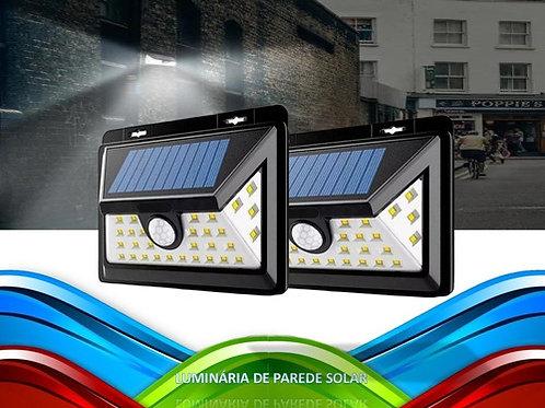 2 Luminaria Solar C/ Sensor De Presenca