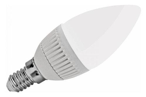 5 Lampada Led Vela Leitosa E14 5w Branco Frio Bivolt