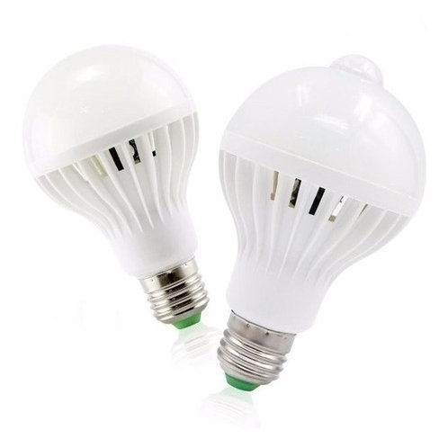 10 Lampada Bulbo Led C/sensor De Presenca 9w Branco Frio Biv