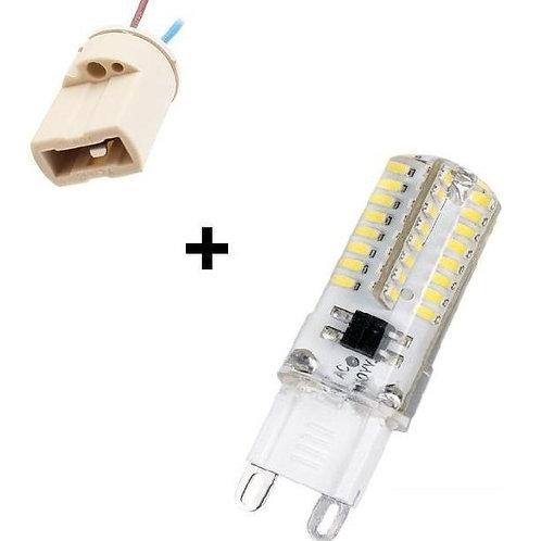 10 Lampada Led Halopim G9 3w Bf Bivolt + 10 Soquetes G9