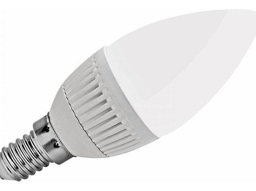 Lampada Led Vela Leitosa E14 5w Branco Frio Bivolt